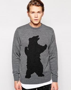 Vacant Джемпер с медведем. Цвет: серый