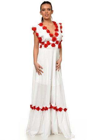 Платье Mashenka by J.A.. Цвет: white and red