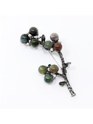 Брошь H2706001601 Vel Vett. Цвет: темно-зеленый,серо-коричневый
