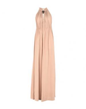Длинное платье VALENTINO. Цвет: телесный