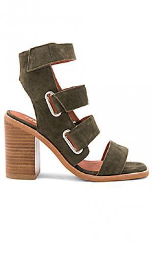 Туфли на каблуке lixer Sol Sana. Цвет: оливковый