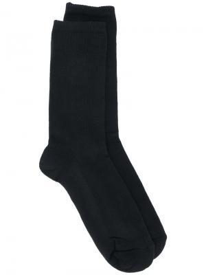 Носки с логотипом Omc. Цвет: чёрный