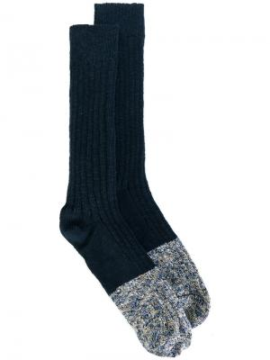 Носки с контрастными панелями Bellerose. Цвет: синий