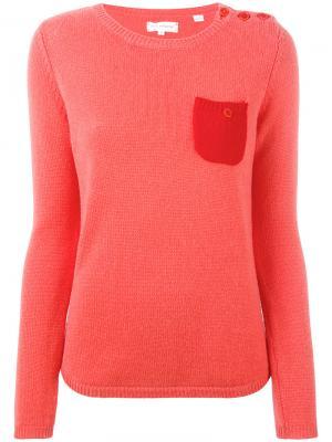 Cashmere one pocket sweater Chinti And Parker. Цвет: жёлтый и оранжевый