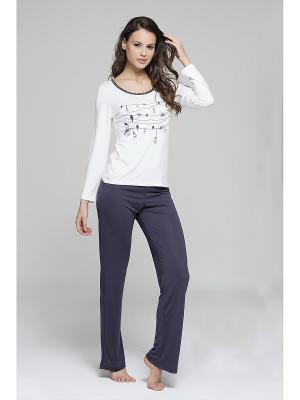 Комплект кофта и брюки MARIPOSA. Цвет: серый
