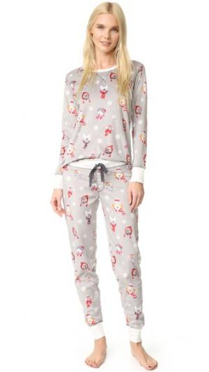 Пижама Polar из флиса PJ Salvage. Цвет: голубой