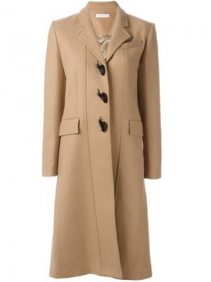Пальто А-образного кроя JW Anderson. Цвет: телесный