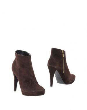Полусапоги и высокие ботинки LIST. Цвет: темно-коричневый
