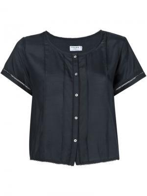 Укороченная рубашка Le Victorian Frame Denim. Цвет: чёрный