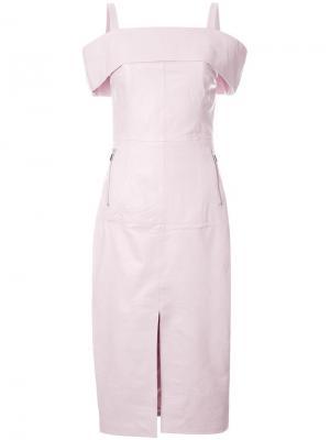 Платье Astor с разрезом Rebecca Vallance. Цвет: розовый и фиолетовый