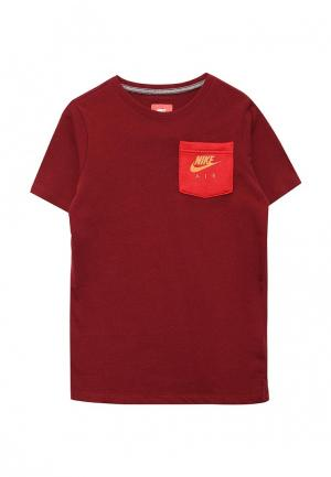 Футболка Nike. Цвет: бордовый