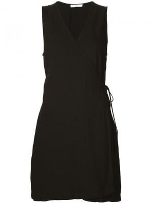 Мини-платье с запахом 321. Цвет: чёрный
