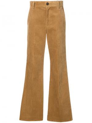 Расклешенные вельветовые брюки Marc Jacobs. Цвет: телесный