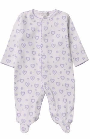 Хлопковая пижама с принтом Kissy. Цвет: лиловый