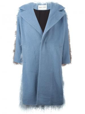 Пальто Mingo Sandy Liang. Цвет: синий