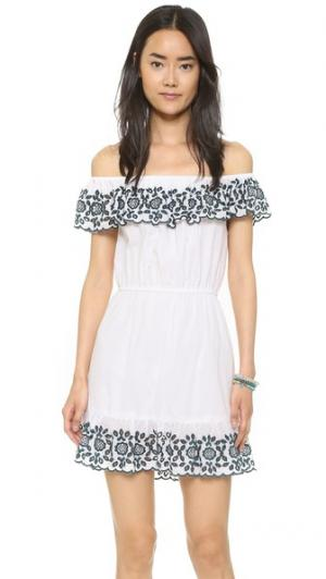 Платье Natalia PAMPELONE. Цвет: белый/синий