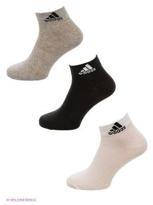 Носки Per Ankle T 3pp, 3 пары Adidas. Цвет: черный, серый, белый