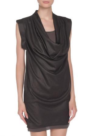 Мини-платье с декоративными складками Liu Jo. Цвет: темно-серый