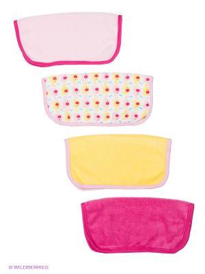Салфетка для купания, 4 шт Luvable Friends. Цвет: розовый
