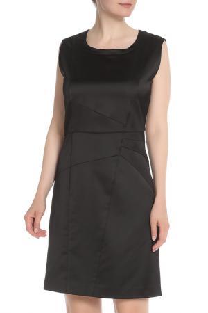 Атласное платье приталенного силуэта Eugen Klein. Цвет: черный