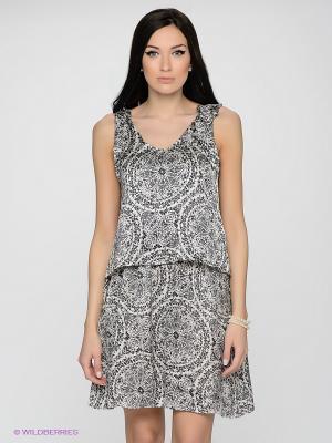 Платье LUIGI FERRO. Цвет: молочный, черный