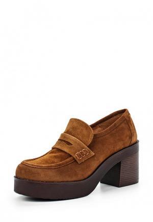 Туфли La Coleccion. Цвет: коричневый