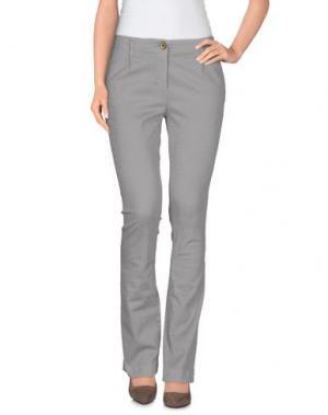 Повседневные брюки TELERIA ZED. Цвет: светло-серый