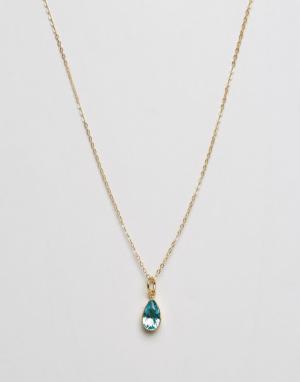 Ottoman Hands Ожерелье с подвеской‑камнем. Цвет: золотой