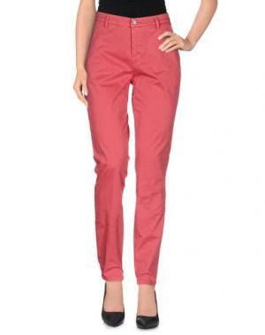 Повседневные брюки UP ★ JEANS. Цвет: кирпично-красный