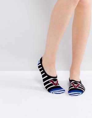 Vans Серые и красные носки. Цвет: серый