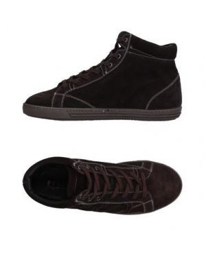 Высокие кеды и кроссовки PLAYHAT. Цвет: темно-коричневый