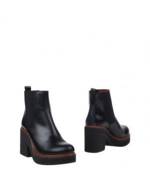 Полусапоги и высокие ботинки VIENTY. Цвет: черный