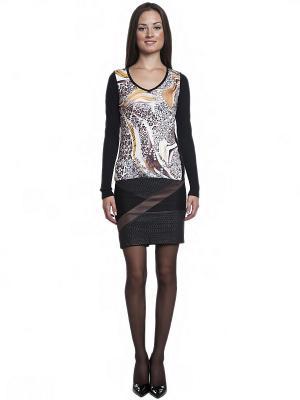Пуловер FRENCH HINT. Цвет: черный, серо-коричневый, горчичный