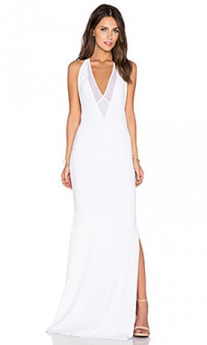 Вечернее платье из джерси dupeyroux Gemeli Power. Цвет: белый