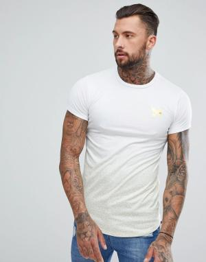 Good For Nothing Белая обтягивающая футболка в золотистую крапинку. Цвет: белый