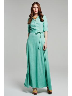 Платье CLABIN. Цвет: зеленый
