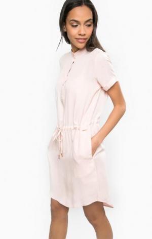 Розовое платье с вырезом на пуговицах Calvin Klein Jeans. Цвет: розовый
