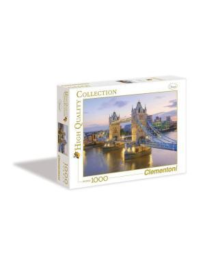 Итальянский пазл Clementoni. Серия High Quality Лондон, Тауэрский мост (n). Clementoni. Цвет: белый, красный, синий