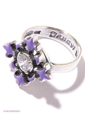Кольцо Jenavi. Цвет: серебристый, белый, фиолетовый