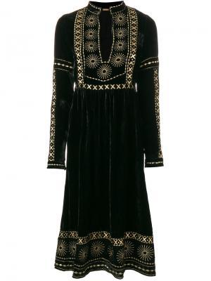 Платье миди с вышивкой Dodo Bar Or. Цвет: чёрный