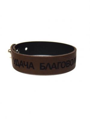 Кожаный браслет TRONIN. Цвет: коричневый
