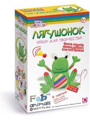 Чудо -Творчество. Fabric animals Сшей игрушку Лягушонок. Чудо-творчество. Цвет: зеленый, белый, красный