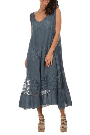 Платье Lin nature. Цвет: синий