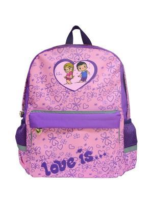 Рюкзак LOVE IS Action!. Цвет: фиолетовый