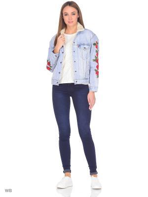 Куртка SHERPA TRUCKER Levi's®. Цвет: голубой