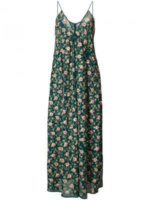 Платье со сборкой Ashish. Цвет: зелёный