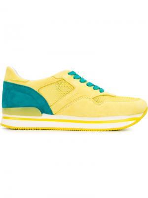 Кроссовки с логотипом Hogan. Цвет: жёлтый и оранжевый