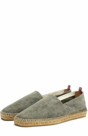 Текстильные эспадрильи на джутовой подошве Castaner. Цвет: хаки