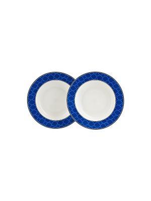 Набор из 2-х тарелок 22 см Blue Dream в п/у Elff Ceramics. Цвет: белый, голубой