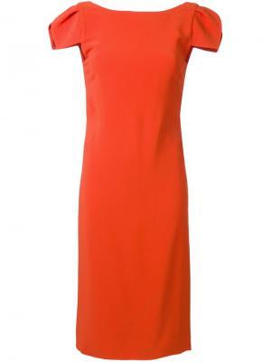 Платье с рукавами-воланами Antonio Berardi. Цвет: жёлтый и оранжевый